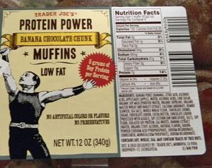 Trader Joe's Protein Power Banana Chocolate Chunk Muffins