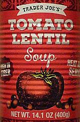 Trader Joe's Tomato Lentil Soup