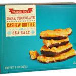 Trader Joe's Dark Chocolate Cashew Brittle with Sea Salt