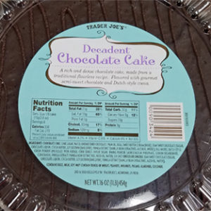Trader Joe's Decadent Chocolate Cake