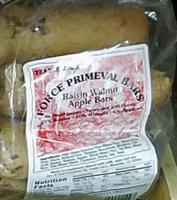 Trader Joe's Force Primeval Raisin Walnut Apple Bars