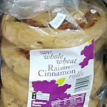 Trader Joe's Whole Wheat Raisin Cinnamon Rolls