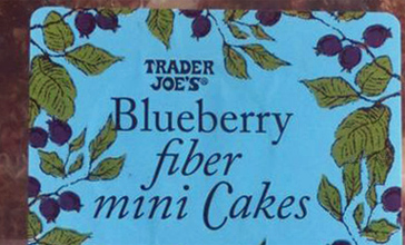 Trader Joe's Blueberry Fiber Mini Cakes