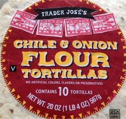 Trader Joe's Chile & Onion Flour Tortillas
