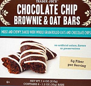 Trader Joe's Chocolate Chip Brownie & Oat Bars