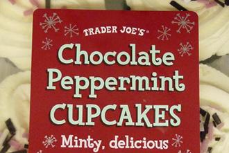 Trader Joe's Chocolate Peppermint Cupcakes
