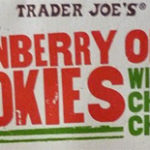 Trader Joe's Cranberry Orange Cookies with White Chocolate Chips