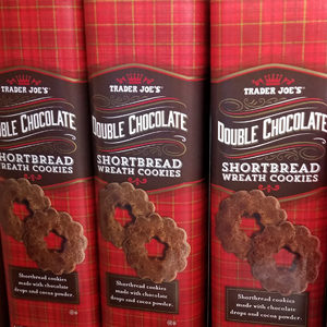 Trader Joe's Double Chocolate Shortbread Wreath Cookies