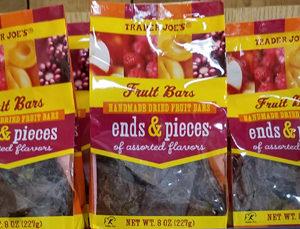 Trader Joe's Fruit Bars Ends & Pieces