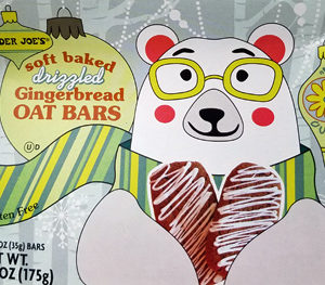 Trader Joe's Soft Baked Drizzled Gingerbread Oat Bars