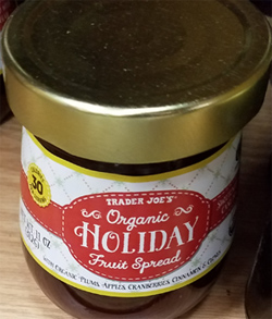 Trader Joe's Organic Holiday Fruit Spread