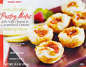 Trader Joe's Pastry Bites with Feta Cheese & Caramelized Onions