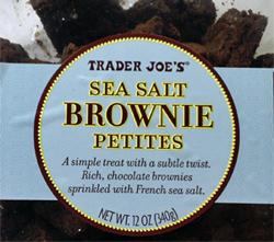 Trader Joe's Sea Salt Brownie Petites