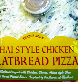 Trader Joe's Thai Style Chicken Flatbread Pizza