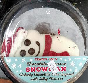 Trader Joe's Chocolate Mousse Snowman