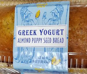 Trader Joe's Greek Yogurt Almond Poppy Seed Bread