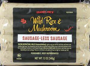 Trader Joe's Wild Rice & Mushroom Sausage-less Sausage