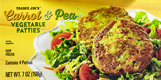Trader Joe's Carrot & Pea Vegetable Patties