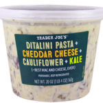 Trader Joe's Ditalini Pasta with Cheddar Cheese, Cauliflower, & Kale