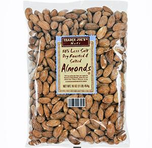 Trader Joe's 50% Less Salt Dry Roasted & Salted Almonds