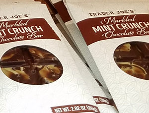 Trader Joe's Marbled Mint Crunch Chocolate Bar