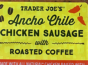 Trader Joe's Ancho Chile Chicken Sausage with Roasted Coffee