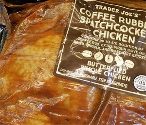 Trader Joe's Coffee Rubbed Spatchcocked Chicken