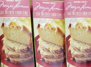 Trader Joe's Meyer Lemon Cake Mix with Lemon Icing