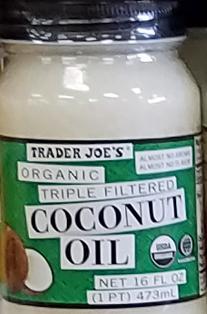 Trader Joe's Organic Triple Filter Coconut Oil