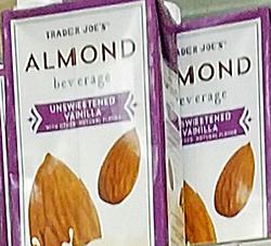 Trader Joe's Unsweetened Vanilla Almond Beverage