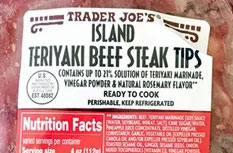Trader Joe's Island Teriyaki Beef Steak Tips