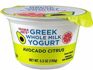 Trader Joe's Avocado Citrus Whole Milk Greek Yogurt