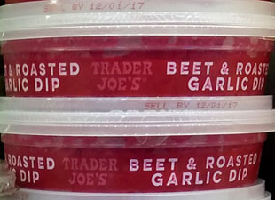Trader Joe's Beet & Roasted Garlic Dip