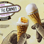 Trader Joe's Pumpkin Ginger Hold the Cone Mini Ice Cream Cones