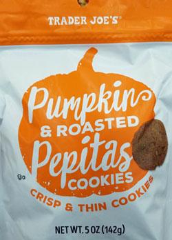 Trader Joe's Pumpkin & Roasted Pepitas Cookies