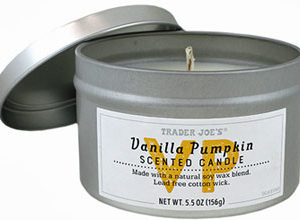 Trader Joe's Vanilla Pumpkin Scented Candle