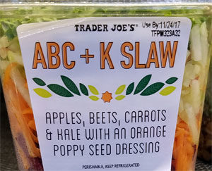 Trader Joe's ABC + K Slaw
