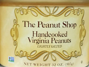 The Peanut Shop Handcooked Virginia Peanuts