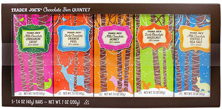 Trader Joe's Chocolate Bar Quintet