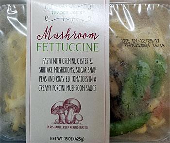 Trader Joe's Mushroom Fettuccine