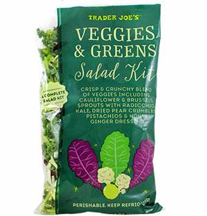 Trader Joe's Veggies & Greens Salad Kit