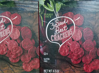 Trader Joe's 3 Seed Beet Crackers