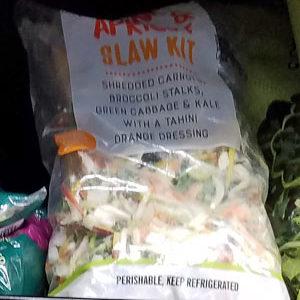 Trader Joe's Tahini, Pepita, and Apricot Slaw Salad Kit