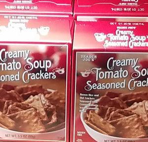 Trader Joe's Creamy Tomato Soup Seasoned Crackers