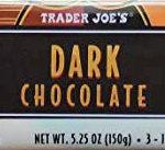 Trader Joe's Dark Chocolate Bars