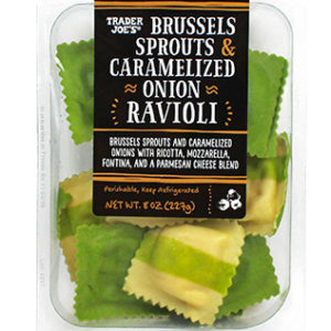 Trader Joe's Brussels Sprouts and Caramelized Ravioli