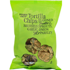 Trader Joe's Tortilla Chips Seasoned with Brussels Sprouts