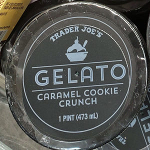 Trader Joe's Caramel Cookie Crunch Gelato