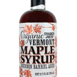 Trader Joe's Organic Bourbon Barrel Aged Vermont Maple Syrup