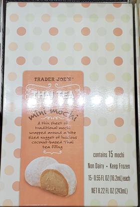 Trader Joe's Thai Tea Mini Mochi